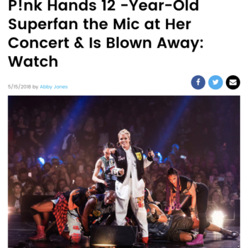 P!nk Hands 12 -Year-Old Superfan the Mic at Her Concert & Is Blown Away: Watch