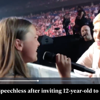 Pink left speechless after inviting 12-year-old to sing at concert