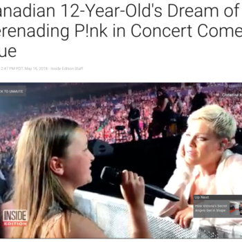 Canadian 12-Year-Old's Dream of Serenading P!nk in Concert Comes True