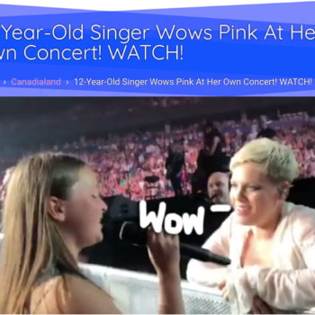 12-Year-Old Singer Wows Pink At Her Own Concert! WATCH!