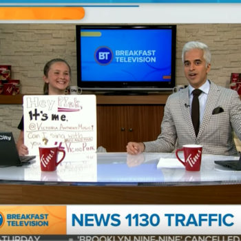 Victoria Anthony on Breakfast Television Vancouver talking about Pink