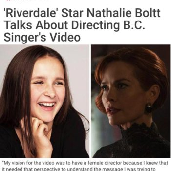 'Riverdale' Star Nathalie Boltt Talks About Directing B.C. Singer's Video